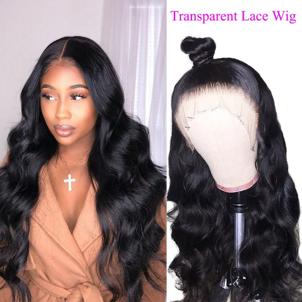 transparent lace front body wave wigs (1)