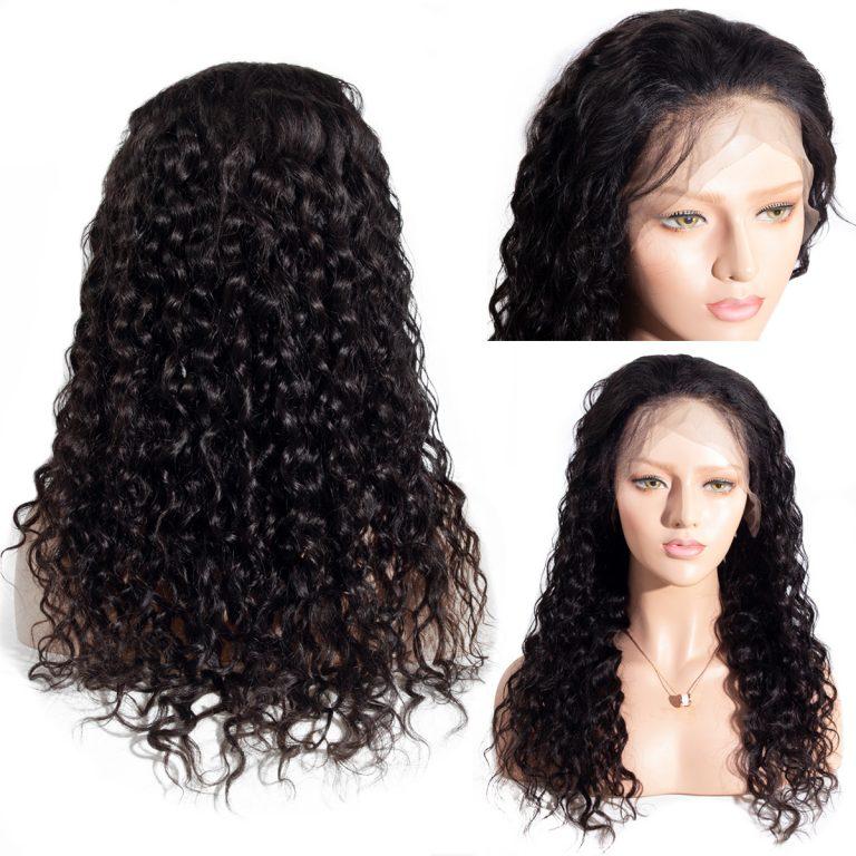 transparent water wave lace front wig details001
