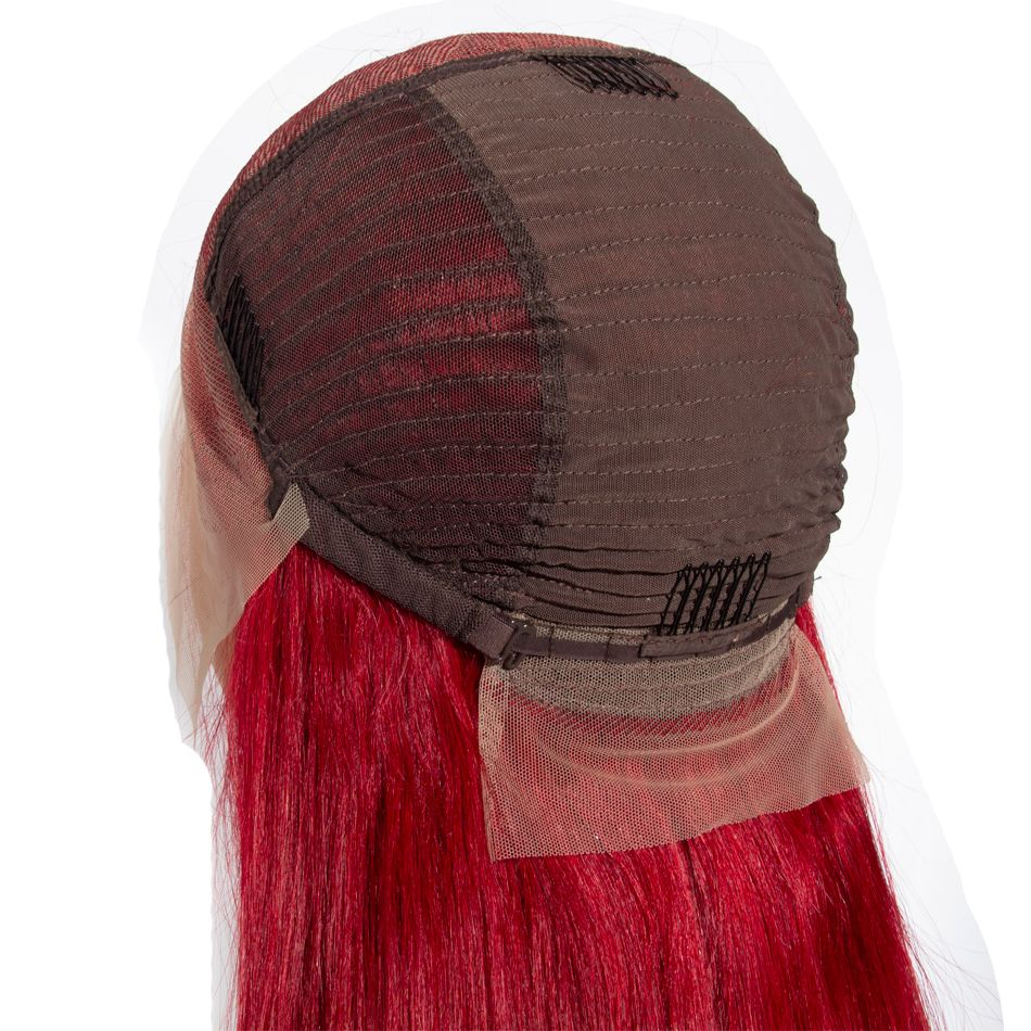 red 13x6 lace front wigs straight hair
