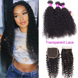 tinashe hair transparent lace closure curly hair