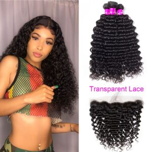 tinashe hair transparent lace frontal deep wave