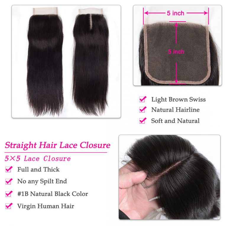 5x5 straight hair lace wig