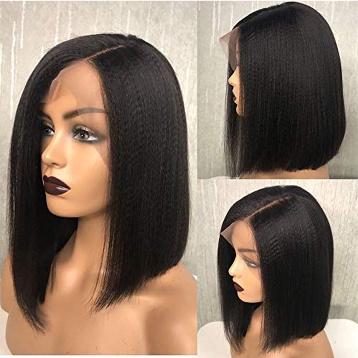 Kinky-straight-hair-short-bob-wigs