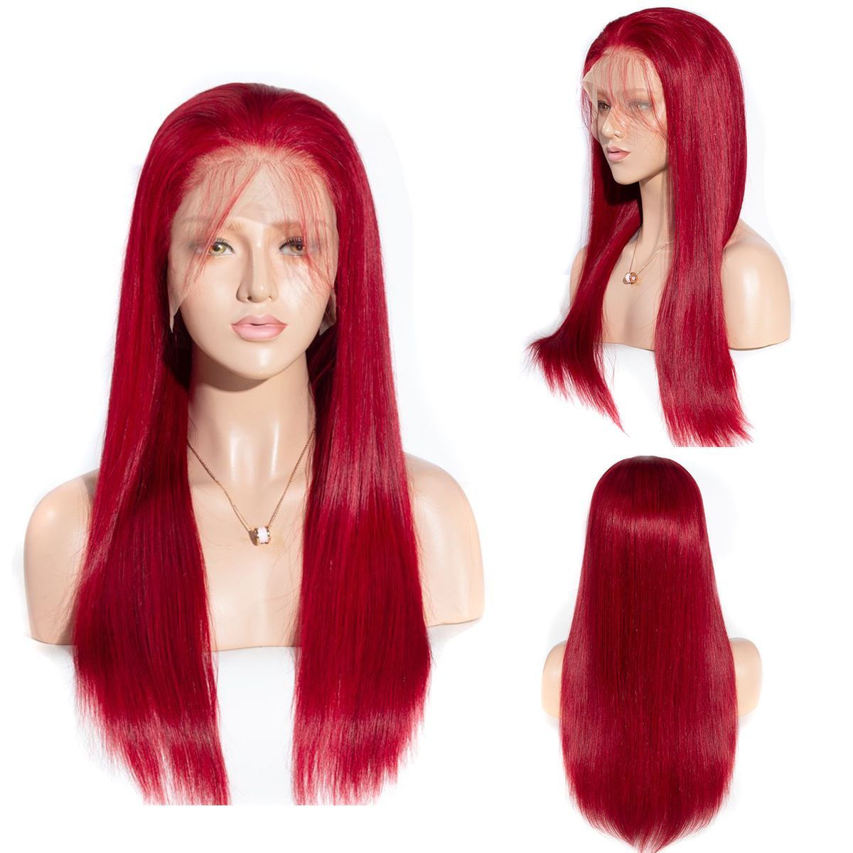 Red-straight-lace-front-wig