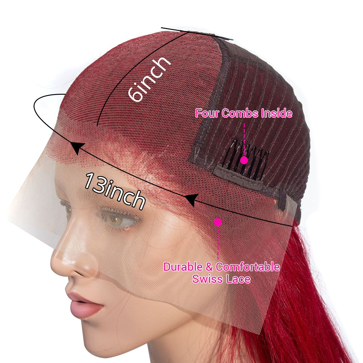red-straight13x6-lace-front-wig detail