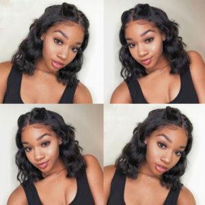 Short Wavy Wave Lace Front Wigs