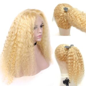 613 blonde deep wave 13x6 lace front wigs
