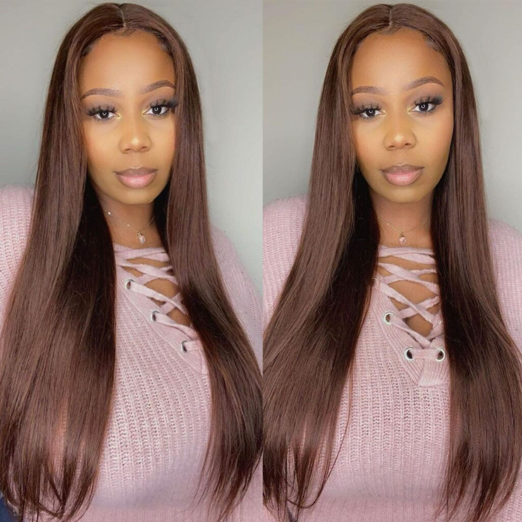 Brown-straight-lace-front-wig