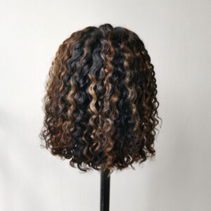 highligh water wave short cut wig