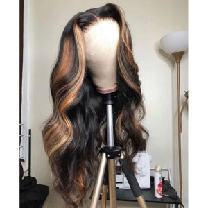 highlight body wave lace front wigs