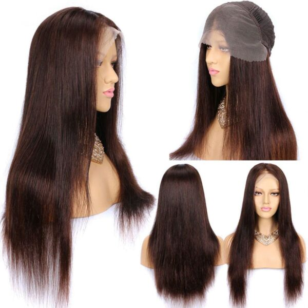 Brown-color-straight-lace-front-wig