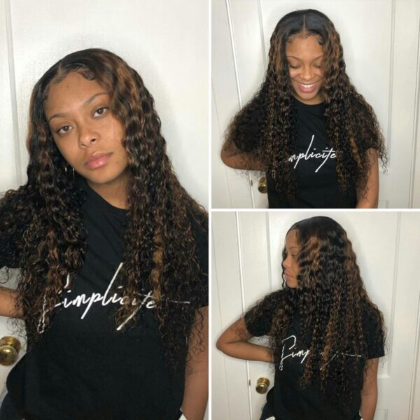 Highlight-water-wave-lace-front-wig