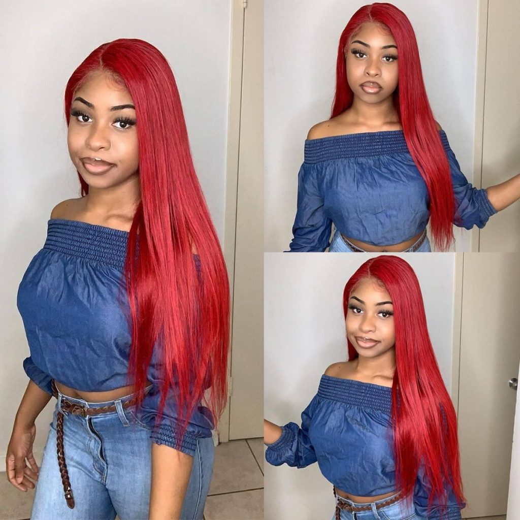 Red-straight-13×6-lace-wig