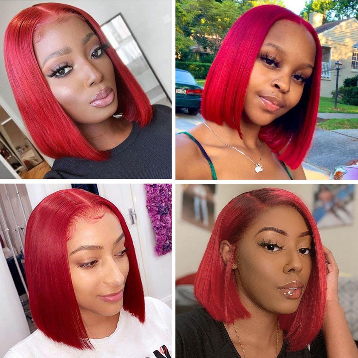 Red-bob-wig