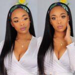 Straight headband wig