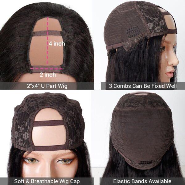 U part wig details