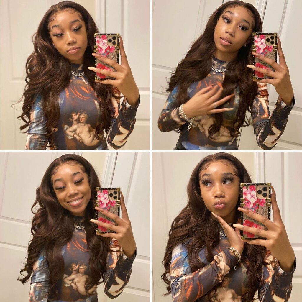 Brown body wave-lace-front-wig