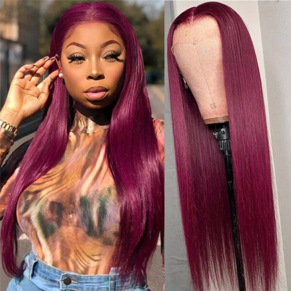 99j straight 5x5 closure wig