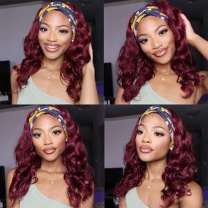 99j body wave headband wig