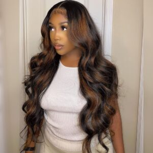 Body wave highlight lace wig