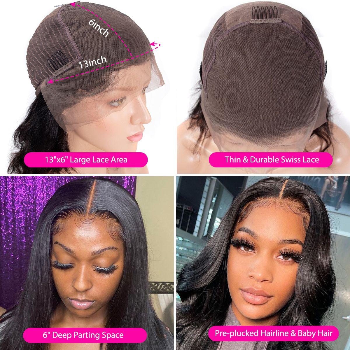13x6 lace wig details